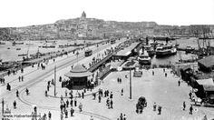 Eminönü'nden Galata'ya bakış (1912 sonrası. Sebah&Joaillier)
