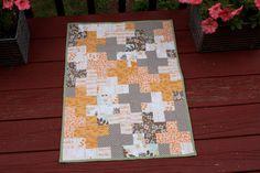 Baby Changing Quilt  LARGE  Orange by DesigningTomorrow on Etsy, $40.00