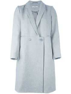 Grey wool blended coat from Carven