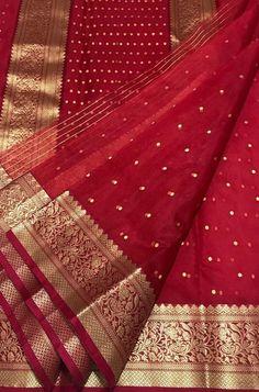 Red Handloom Chanderi Pure Katan Silk Ghani Booti Saree WhatsApp us for Purchase & Inqui Chiffon Saree, Blue Silk Saree, South Silk Sarees, Silk Saree Kanchipuram, Chanderi Silk Saree, Wedding Silk Saree, Red Saree, Peach Saree, Banaras Sarees