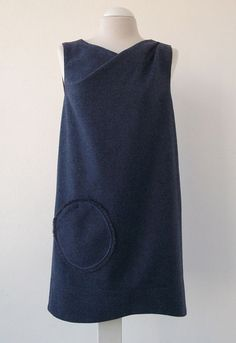 Blue wool Short dress.Luci Lü by twyggi. Explore more products on http://twyggi.etsy.com