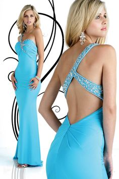 Backless Beading Ankle Length Corset Blue Evening Dress