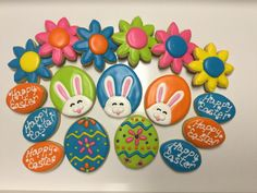 Bunny Ears decorated sugar cookies by I Am the Cookie Lady