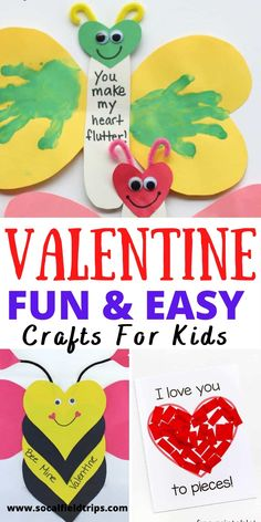 Are you looking for some fun activities to keep the kids entertained on Valentine's Day? These 13 Creative Valentine's Day Crafts for Kids are surprisingly a little silly, but sure to delight your little sweeties. What's not to love? #valentines #kidscraft #vday #diy #valentinesdaycraft #preschoolcraft #toddlercraft #craft Crafts For 2 Year Olds, Valentine's Day Crafts For Kids, Art For Kids, Kid Crafts, Paper Crafts, Valentines Day Activities, Valentine Day Crafts, Holiday Crafts, Holiday Fun