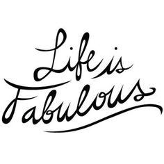 Wallsticker Life is Fabulous!