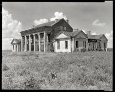 "Assumption Parish, Louisiana, 1938. ""Woodlawn Plantation, Napoleonville vicinity. Built 1835 by Col. W.W. Pugh, first superintendent of schools in Louisiana."" 8x10 inch negative by Frances Benjamin Johnston. #abandoned"