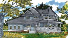 Queen Anne House Plan with 2693 Square Feet and 4 Bedrooms(s) from Dream Home Source | House Plan Code DHSW04081