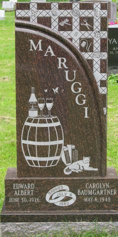 Great way to personalize your own headstone. Mount Hope Cemetery, Rochester NY