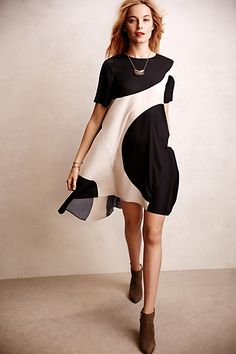I just bought this dress AND could not be happier with it!! Modernity Swing Dress #anthropologie