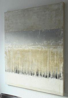 blue line. - 120x100x4cm - mixed media on canvas - CHRISTIAN HETZEL