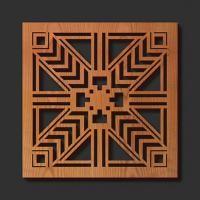 Corte del laser de Soportes de madera: Robie del aplique