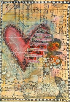 Nika In Wonderland Art Journaling and Mixed Media Tutorials - mixed media collages for mother's day? Index cards turned into bookmarks? Mixed Media Journal, Mixed Media Canvas, Mixed Media Collage, Mixed Media Artwork, Art Journaling, Art Journal Pages, Mixed Media Tutorials, Art Tutorials, Mix Media