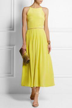 Preen by Thornton Bregazzi|Pansy silk-crepe midi dress|NET-A-PORTER.COM