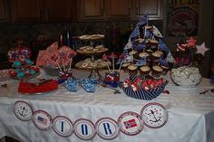 """Photo 8 of 18: Nautical / Baby Shower/Sip & See """"Ahoy! It's a Boy!"""" 