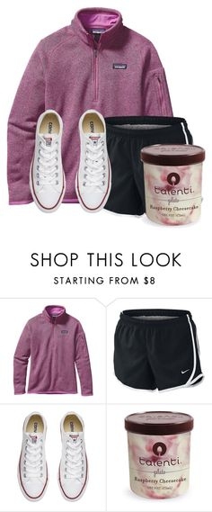 """I want ice cream"" by auburnlady ❤ liked on Polyvore featuring Patagonia, NIKE and Converse"