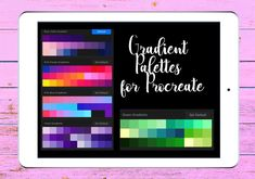 Gradient color palette for Procreate, Gradients, Ipad color palette, Gradient swatch Gaussian Blur, Word Doc, Create A Logo, Gradient Color, Brush Set, How To Introduce Yourself, Swatch, Ipad, Palette