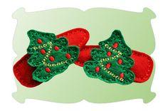 Christmas Tree Snap Clip Mini - DigiStitches - barrettes