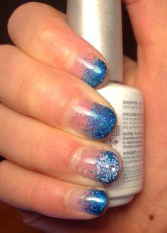 Frozen gelish Christmas nails Chrismas Nail Art, Christmas Nails, Frozen, Christmas Manicure, Xmas Nails