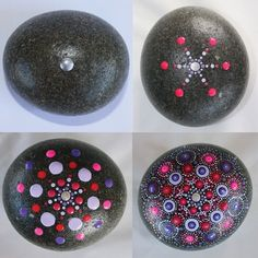 Mandala Stone Painting Using Pointillism - A Steb-By-Step Guide - Handmade by Penni-Lee Mandala Painting, Pebble Painting, Dot Painting, Pebble Art, Mandala Art, Stone Painting, Painting Tips, Mandala Painted Rocks, Mandala Rocks