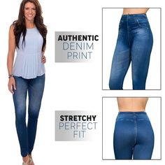 Stretchy Slimming Jeans Leggings – lazylullaby Denim Leggings, Jeggings, Yoga Leggings, Flatten Tummy, Off Black, Slim Jeans, Fashion Pants, Elastic Waist, Stylish