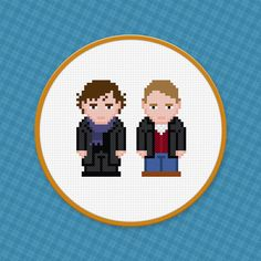 BBC Sherlock TV Show Characters - Digital PDF Cross Stitch Pattern