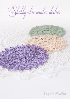 Shabby-chic inspiration crochet doilies at home this season. PDF pattern