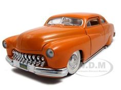 "1951 Mercury ""junkman"" Orange Diecast Car Model 1/18 Die Cast Car By Ertl"