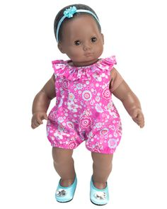 """Doll Clothes Baby Made 2 Fit American Girl 15/"""" in Bitty 3 pc Jacket Pink Dots"""