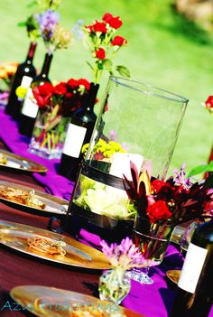 wine table decorations