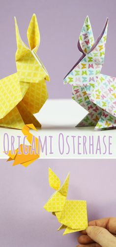 DIY-Ideen - Basteln und Gestalten In this guide we show how to fold an origami Easter bunny. Origami Butterfly Instructions, Origami Butterfly Easy, Origami Diy, Origami Simple, Origami Flowers Tutorial, Flower Tutorial, Bunny Origami, Fleurs Diy, Woodland Nursery