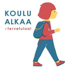 Koulu alkaa, tervetuloa! First Day Of School, Back To School, Early Childhood Education, Elementary Art, First Grade, Teacher, Classroom, Cards, Koti