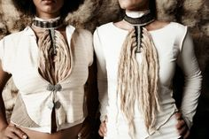 Jungali Dreads Necklace: Made from the raw fibers of wild nettle after being processed in wood ashes, white clay and Himalayan crystal salt, wild nettle, wool and bamboo.