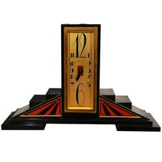Art Deco Table Clock | From a unique collection of antique and modern clocks at https://www.1stdibs.com/furniture/more-furniture-collectibles/clocks/