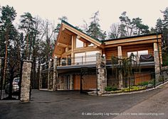 Located in British Columbia, Lake Country Log Homes builds custom handcrafted log homes from Western Red (West Coast Cedar) and Douglas Fir. Log Cabin Homes, Log Cabins, Cedar Log, Cedar Homes, Western Red Cedar, Douglas Fir, Wyoming, Austria, Montana