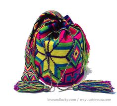 Authentic Wayuu Bags Wayuu Mochila Standard Size by loveandlucky, $115.00
