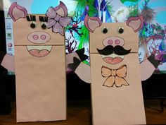 Three Little Pigs paper bag puppets and story ideas