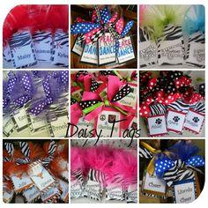Daisies & Stars: Cheer & Dance Bag Tags