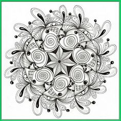 based on a mandala form but filled with zentangle-type doodles #art, #drawing