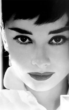 Audrey had amazing eyes and brows