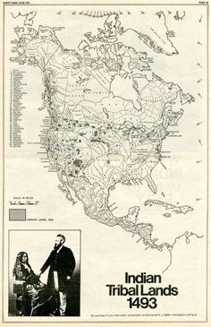 MAP OF INDIAN TRIBAL LANDS 1493. Found a better resolution source http://babylonfalling.tumblr.com/post/2698837928/indian-tribal-lands-1493-click-here-to-zoom