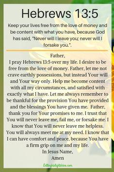 Hebrews – Letting His Light Shine Prayer Scriptures, Bible Prayers, Catholic Prayers, Faith Prayer, God Prayer, Prayer Quotes, Faith In God, Faith Bible, Biblical Quotes