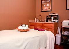 Massage Room at Pure Massage Room at Pure Massage Therapy Rooms, Massage Room, Esthetician Room, Massage Center, Beauty Room, Room Set, Salon Ideas, Pure Products, Room Ideas