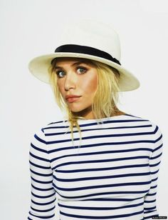 Classic stripes. Love this look.