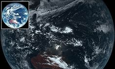 Japanese weather satellite captures what Earth REALLY looks like | Daily Mail Online