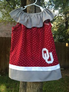 Oklahoma Sooners inspired dress by LollinpopShop on Etsy, $25.00