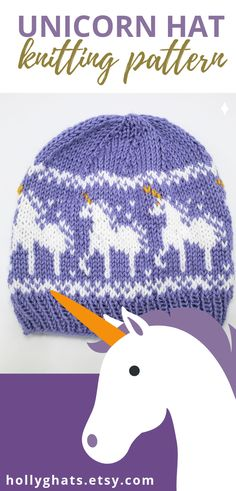 Unicorn Hat Knitting Pattern Holly G Hats # einhorn hut strickmuster holly g hüte # chapeau licorne tricot motif holly g chapeaux Unicorn Knitting Pattern, Kids Knitting Patterns, Knitting For Kids, Free Knitting, Knitting Projects, Baby Knitting, Summer Knitting, Knitted Hats, Crochet Hats