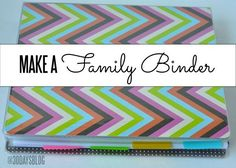 Create your own family binder with all important info in one spot!