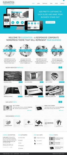 Check this our best templates collection: 12 Creative Business Website Templates