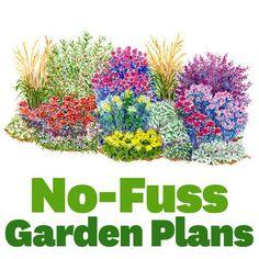 19 No-Fuss Garden Plans    Enjoy a beautiful garden with less work thanks to these ultraeasy, no-fuss garden plans.