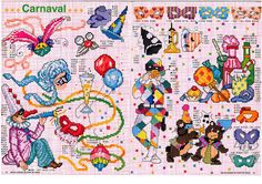 Carnaval cross stitch carts
